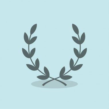 Pictograph of laurel wreath icon