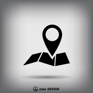 Pin on the map icon.