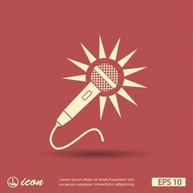 Microphone icon iilustration