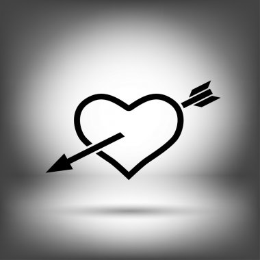 Pictograph of heart with arrow