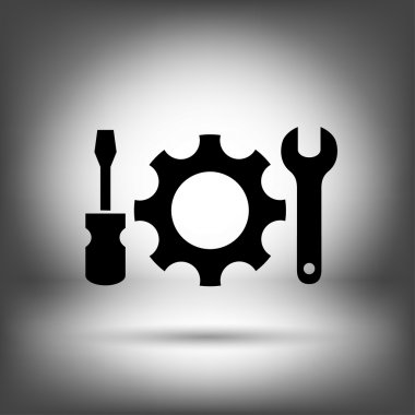 Pictograph of gear icon