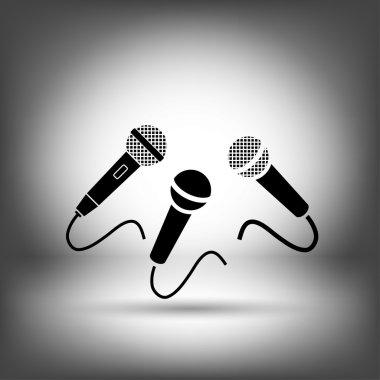 Microphones icon  illustration