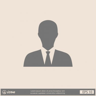 Pictograph of businessman icon