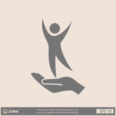 Pictograph of success people icon illustration clip art vector