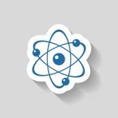 Photo Pictograph of atom icon