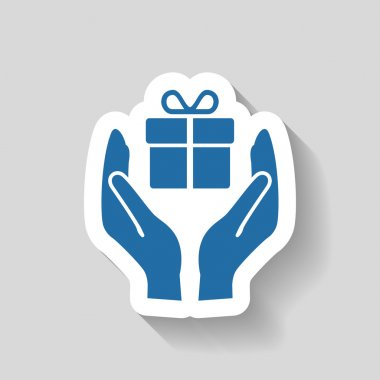 Pictograph of gift icon