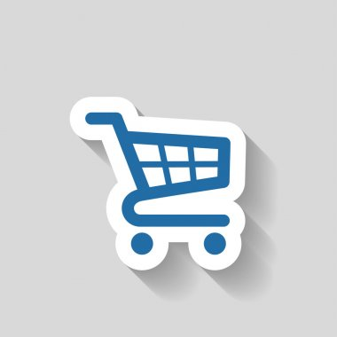 Pictograph of shopping cart vector icon stock vector