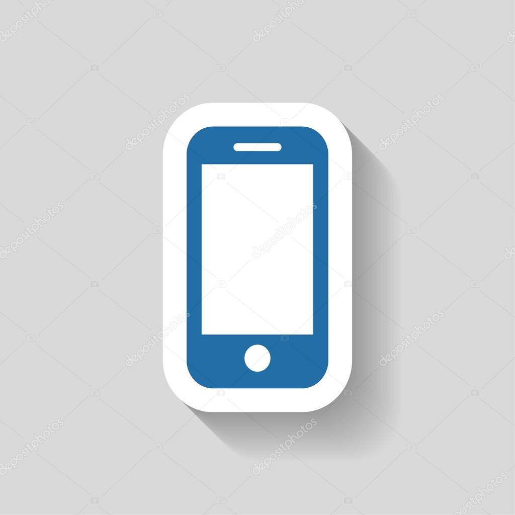 Pictograph of mobile icon
