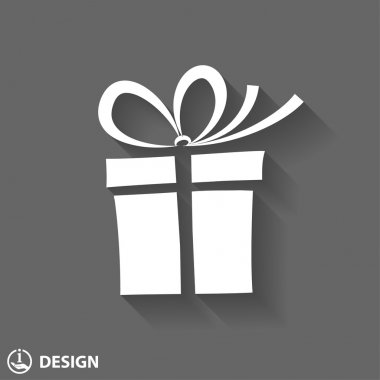 Pictograph of gift box icon clip art vector