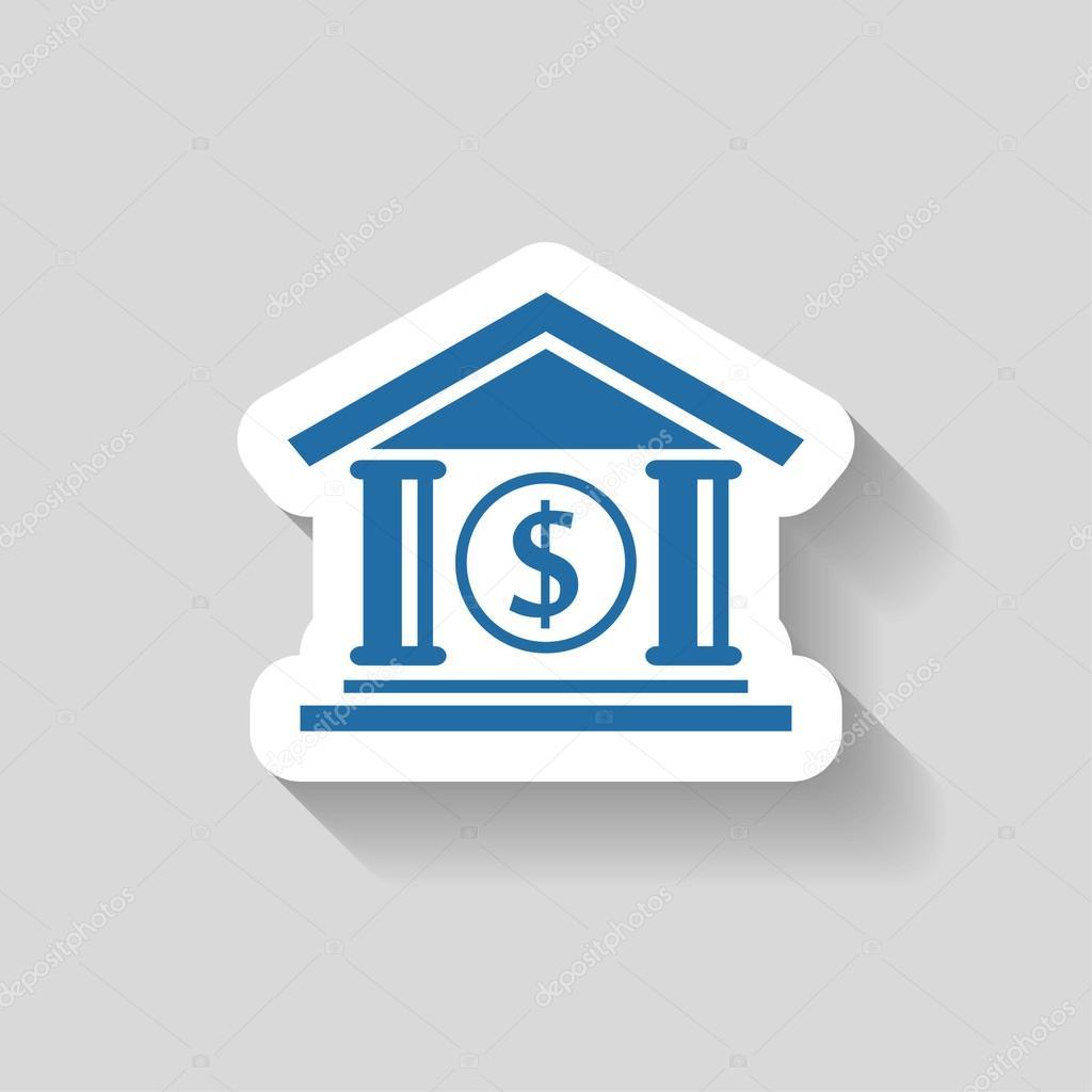 Banque Vectorielle pictogramme d'icône de banque — image vectorielle hristianin © #74491239