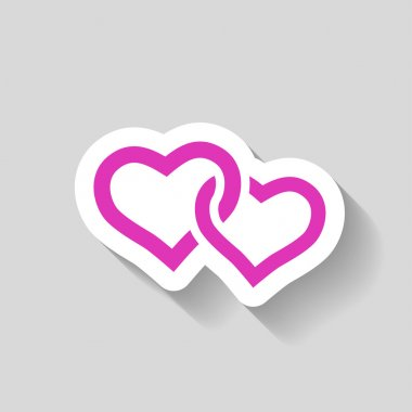 Pictograph of two hearts icon vector illustration clip art vector