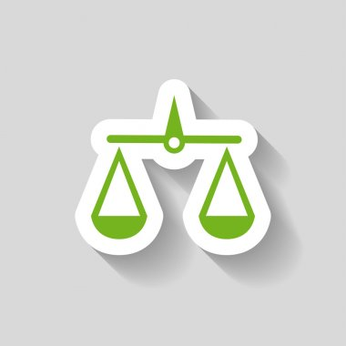 Pictograph of justice scales icon