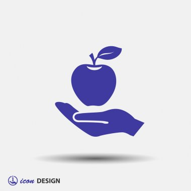 Pictograph of apple icon