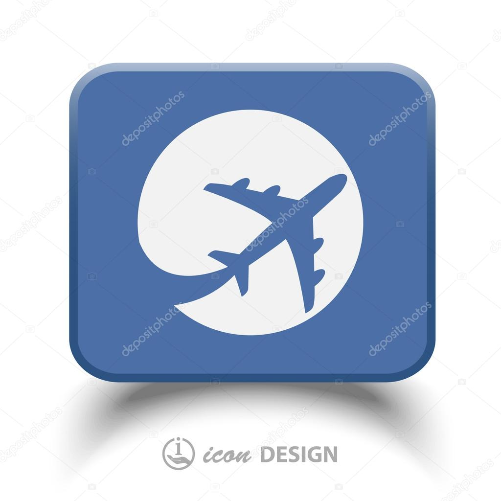 Pictograph of airplane icon