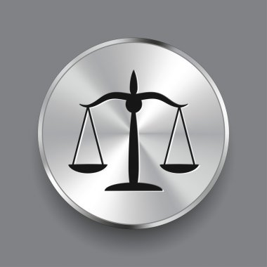 Pictograph of justice scales
