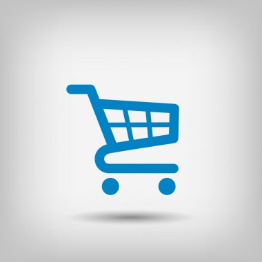 Pictograph of shopping cart icon stock vector