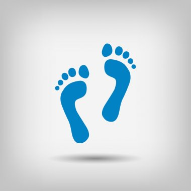 Pictograph of footprints   icon