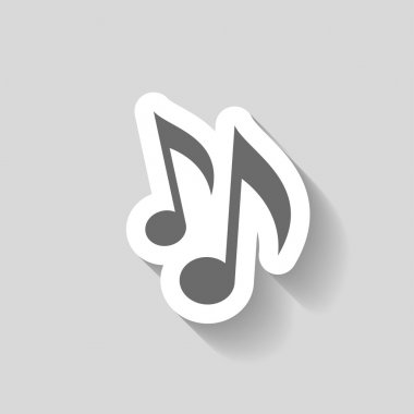 Pictograph of music notes icon