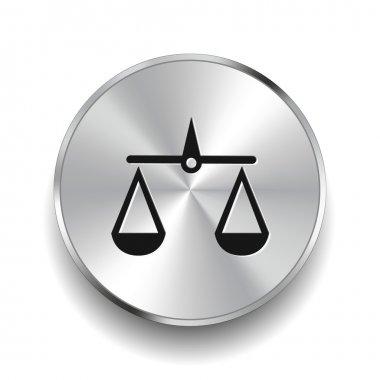 Pictograph of justice scales icon clip art vector