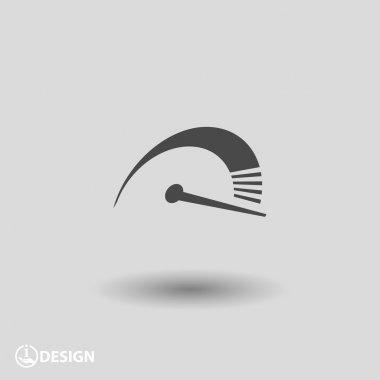 Pictograph of speedometer icon illustration clip art vector