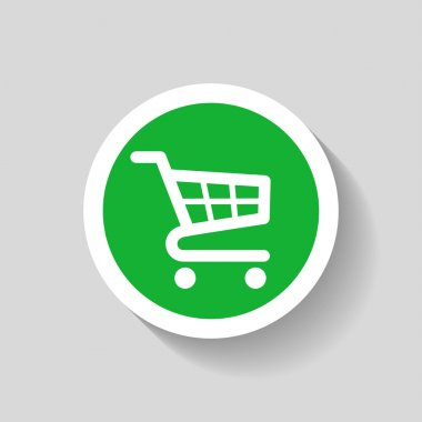 Pictograph of shopping cart icon illustration stock vector