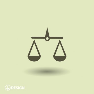 Pictograph of justice scales icon illustration clip art vector
