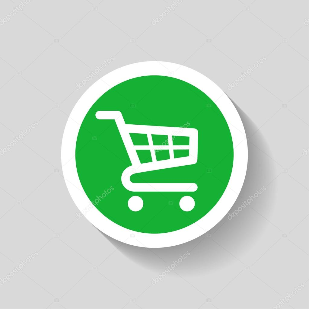 Pictograph of shopping cart icon