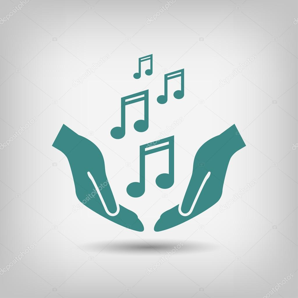 Pictograph of music icon