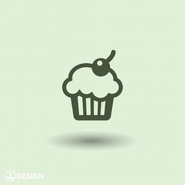 Pictograph of cupcake icon