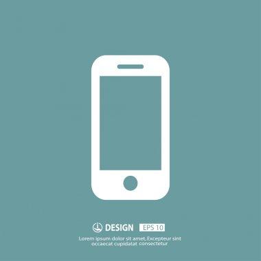 Vector Pictograph of phone icon clip art vector