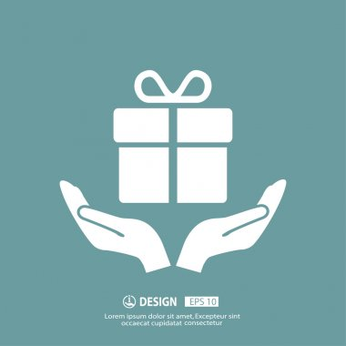 Vector Pictograph of gift box stock vector