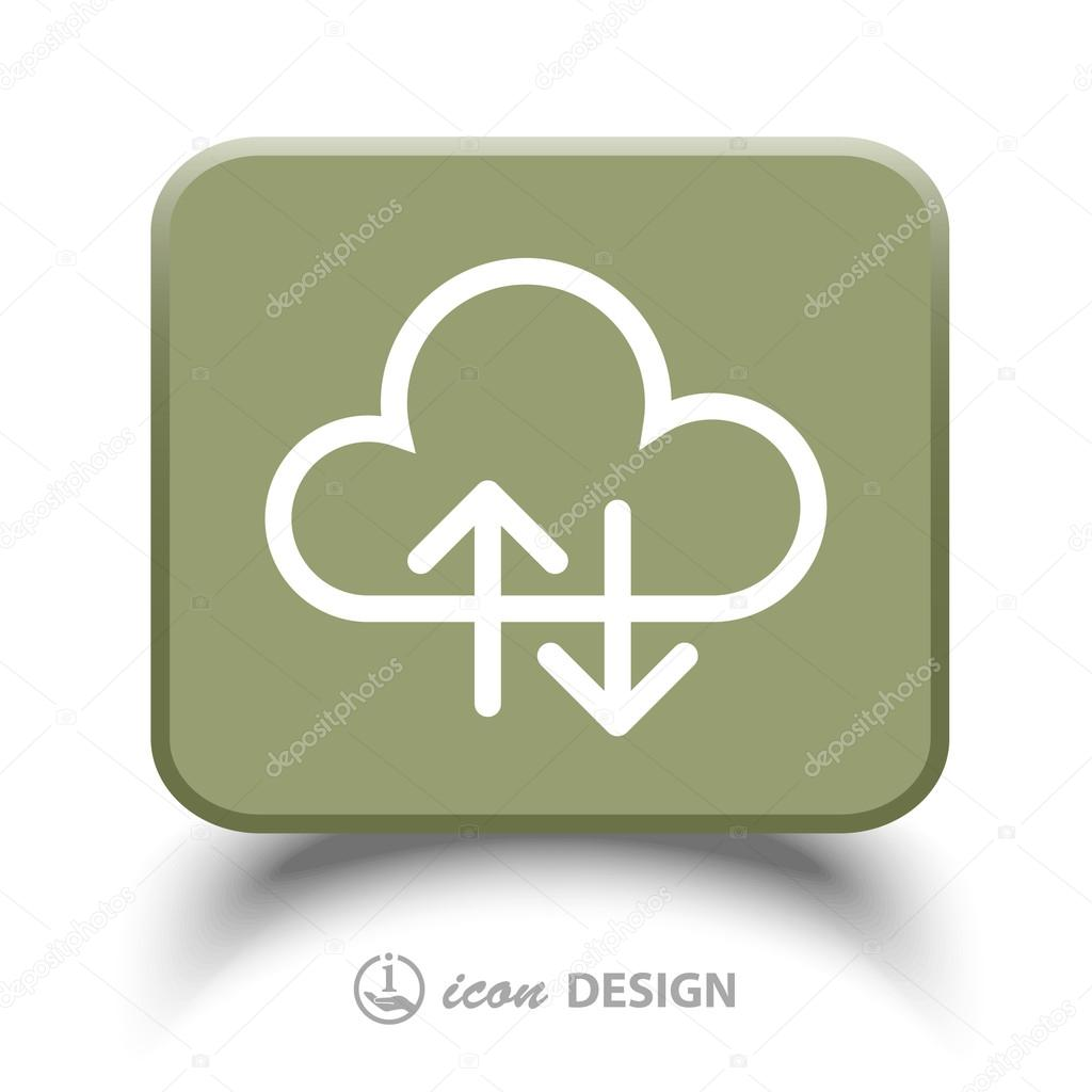 Pictograph of cloud icon