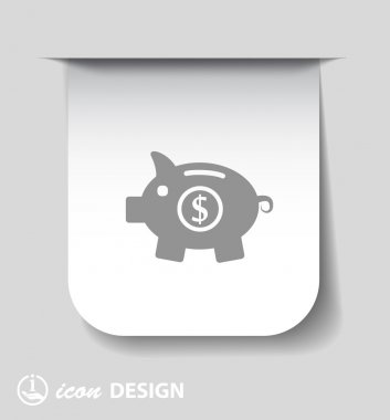 Pictograph of moneybox icon