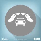 Ruce s ikonou, auto