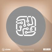 Obvodové desky plochý design ikony