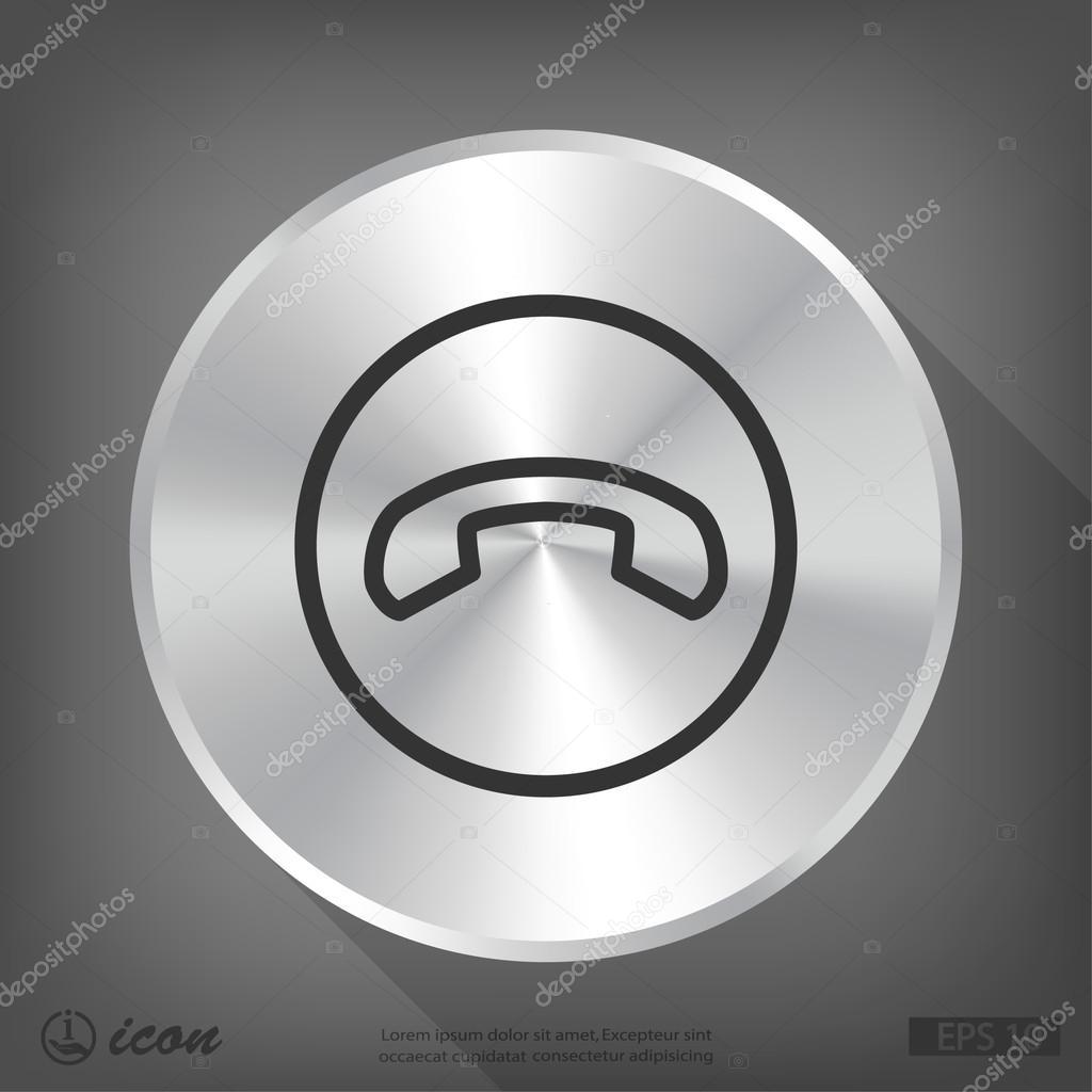 Icona di design piatto del telefono vettoriali stock for Design piatto