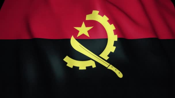 Realistische Angola-Flagge in 4K, Loop-Animation