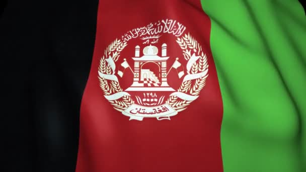 Waving realistic Afghanistan flag in 4K, loop animation