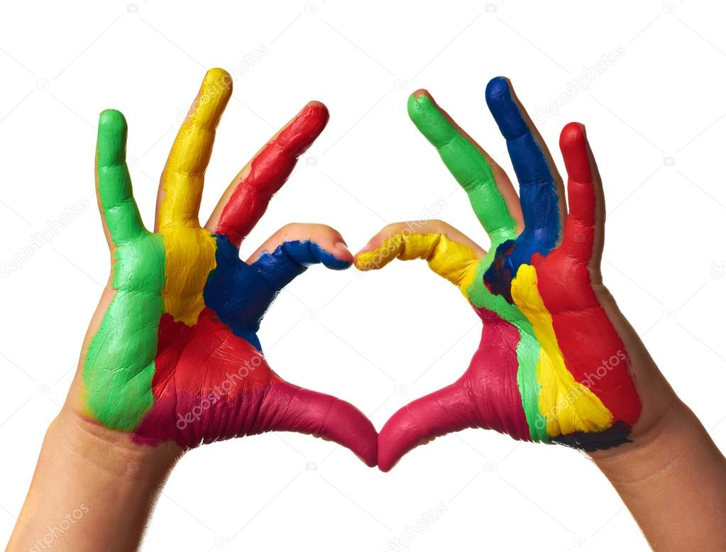 Painted Heart Hands
