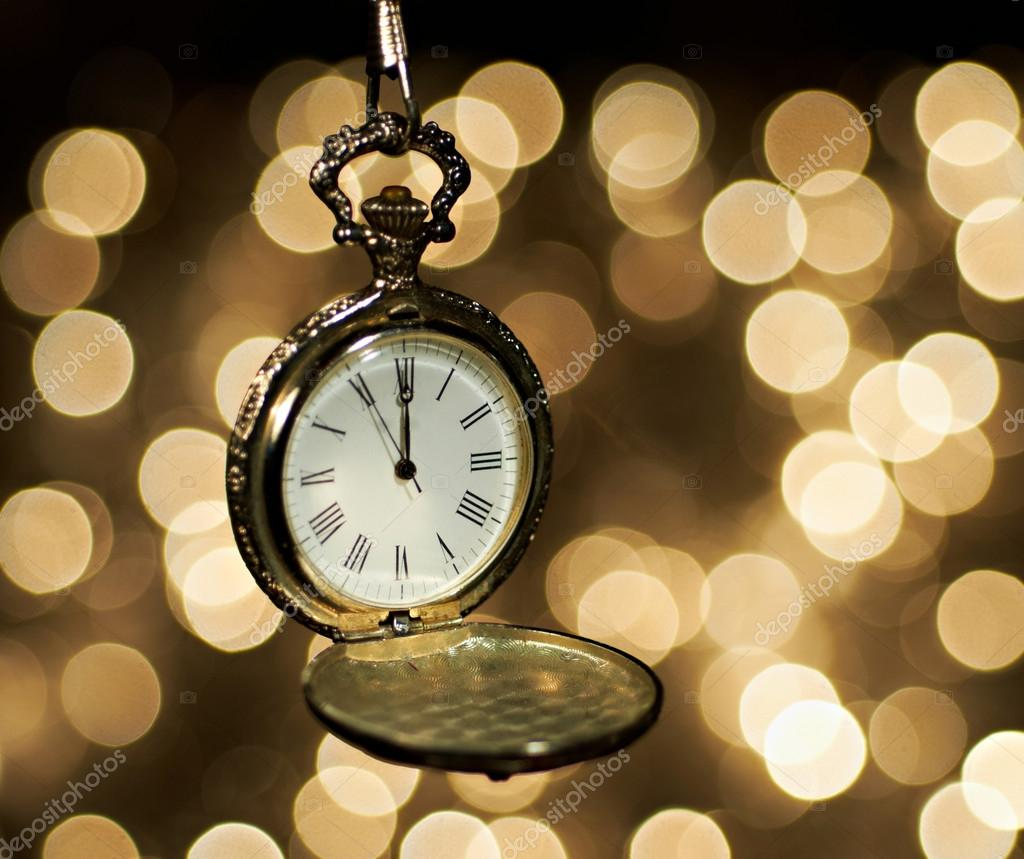 New year clock at midnight — Stock Photo © markop #54140639