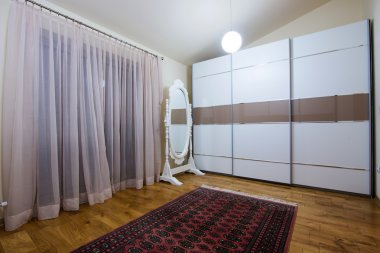 Modern dressing room interior