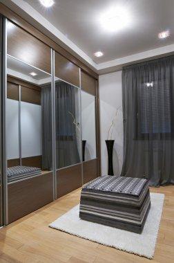 Cosy wardrobe interior
