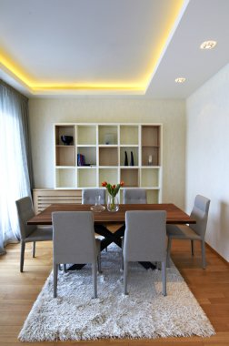 Living and dining room interior