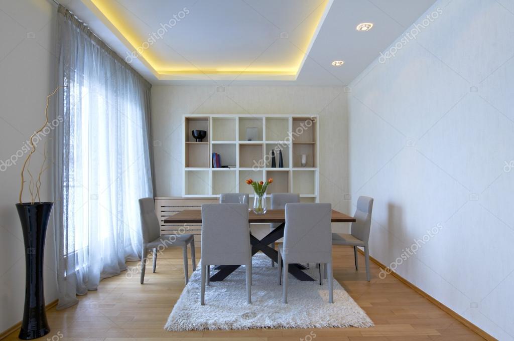 Woon en eetkamer interieur u stockfoto markop
