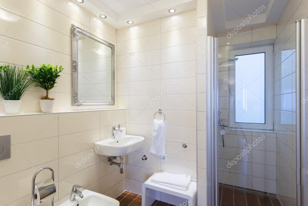 Moderne badkamer interieur u stockfoto markop