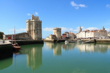 Fortifications and medieval towers of La Rochelle, France
