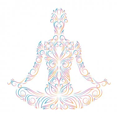 person sitting in lotus pose