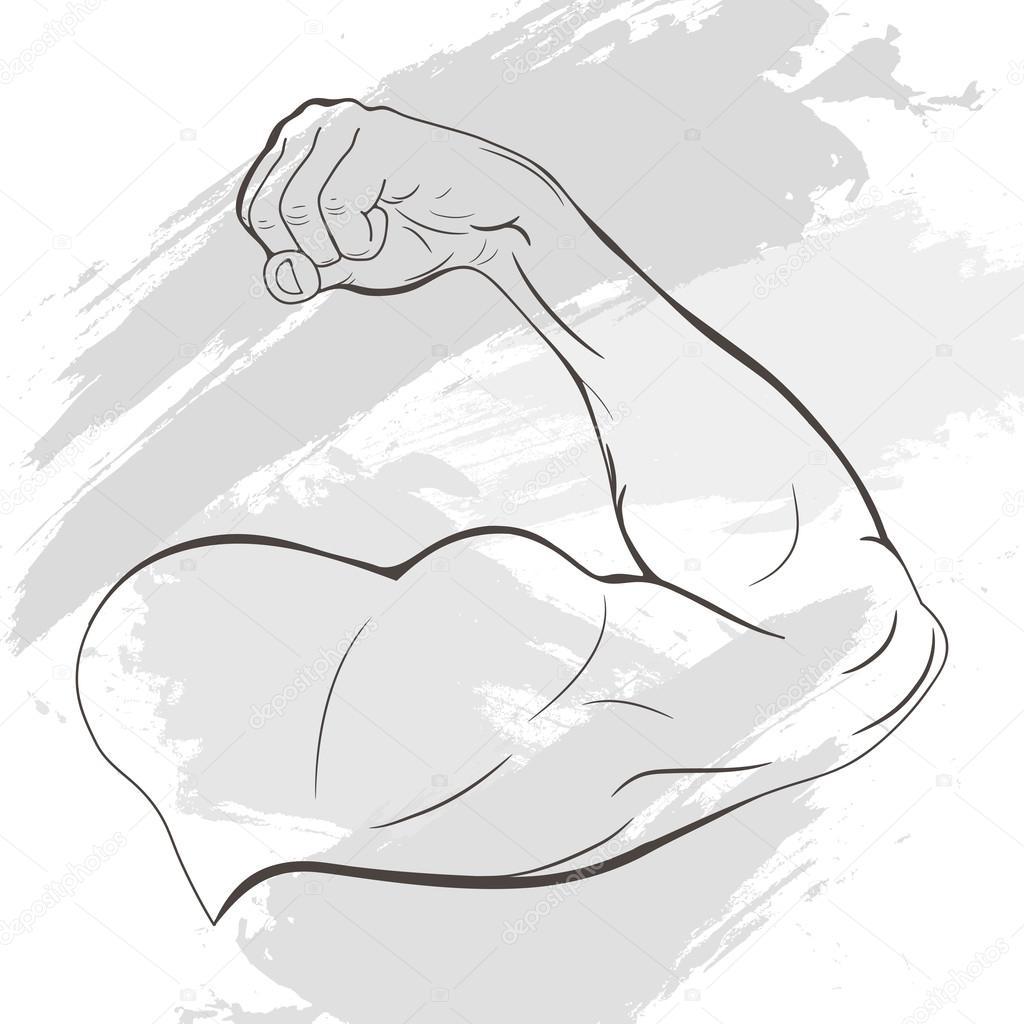 Mens Arm With Muscles Stock Vector Vareennik 114107782
