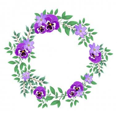 wreath with purple flowers