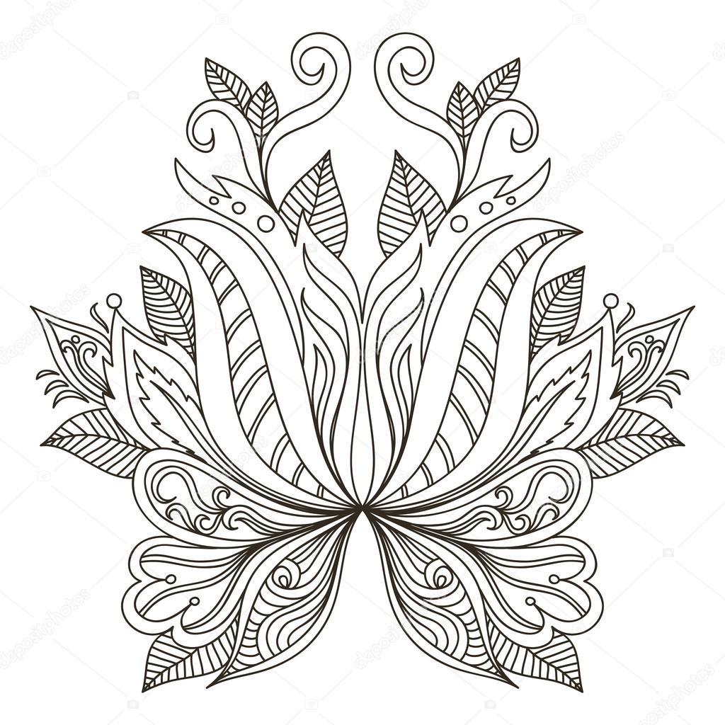ornamental element. Mehndi elements.